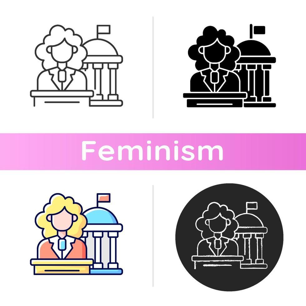 mulheres no ícone do governo vetor
