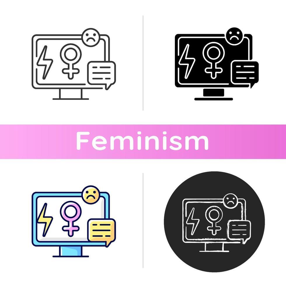 ícone do sexismo na mídia vetor