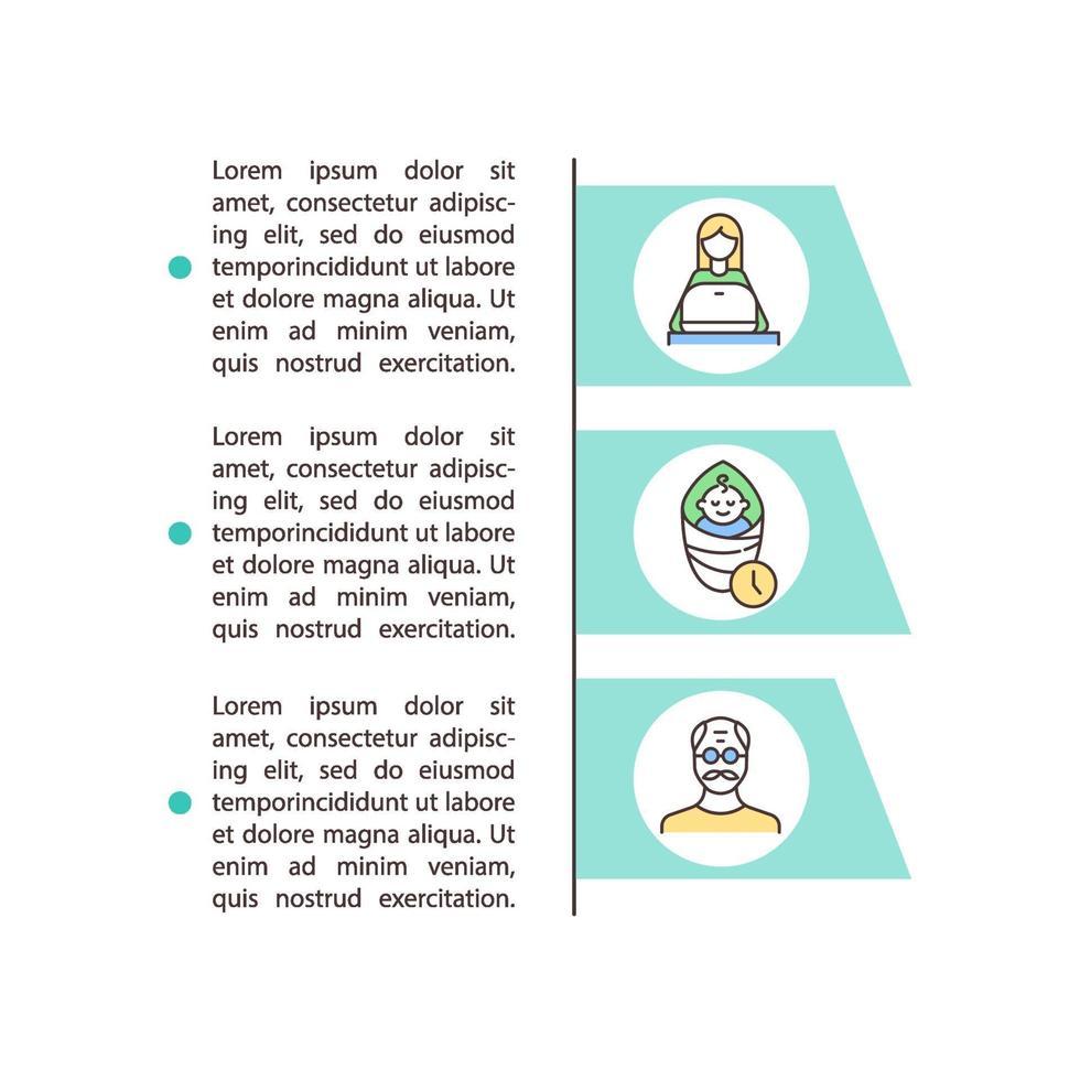 ícone do conceito de fatores de risco com texto vetor