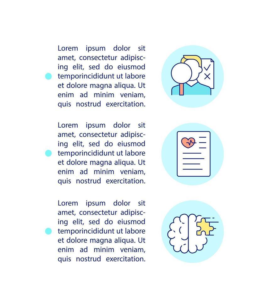 ícone do conceito de monitoramento de síndrome pós-covid com texto vetor