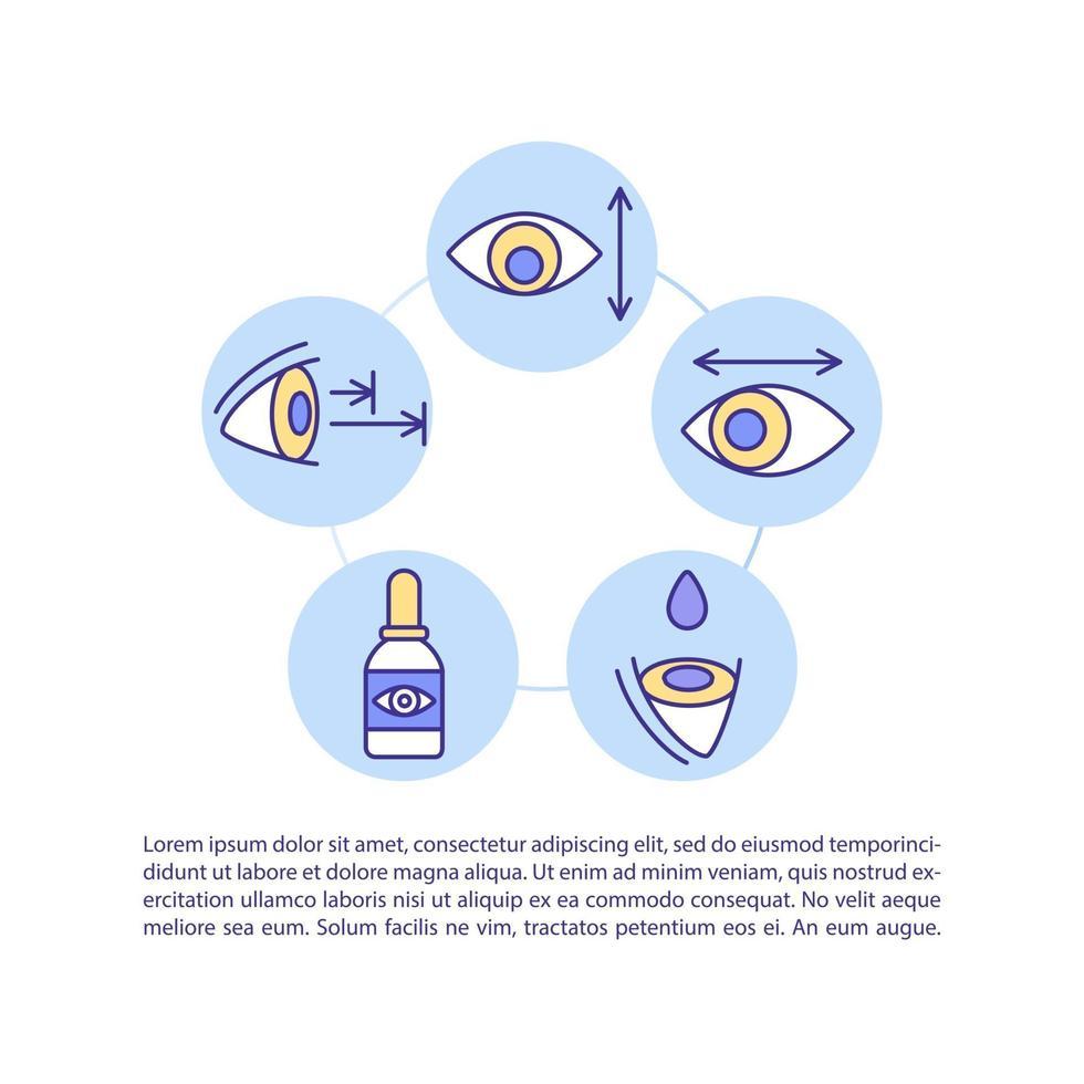 tratamento de olhos digitais distendem o ícone do conceito com texto vetor