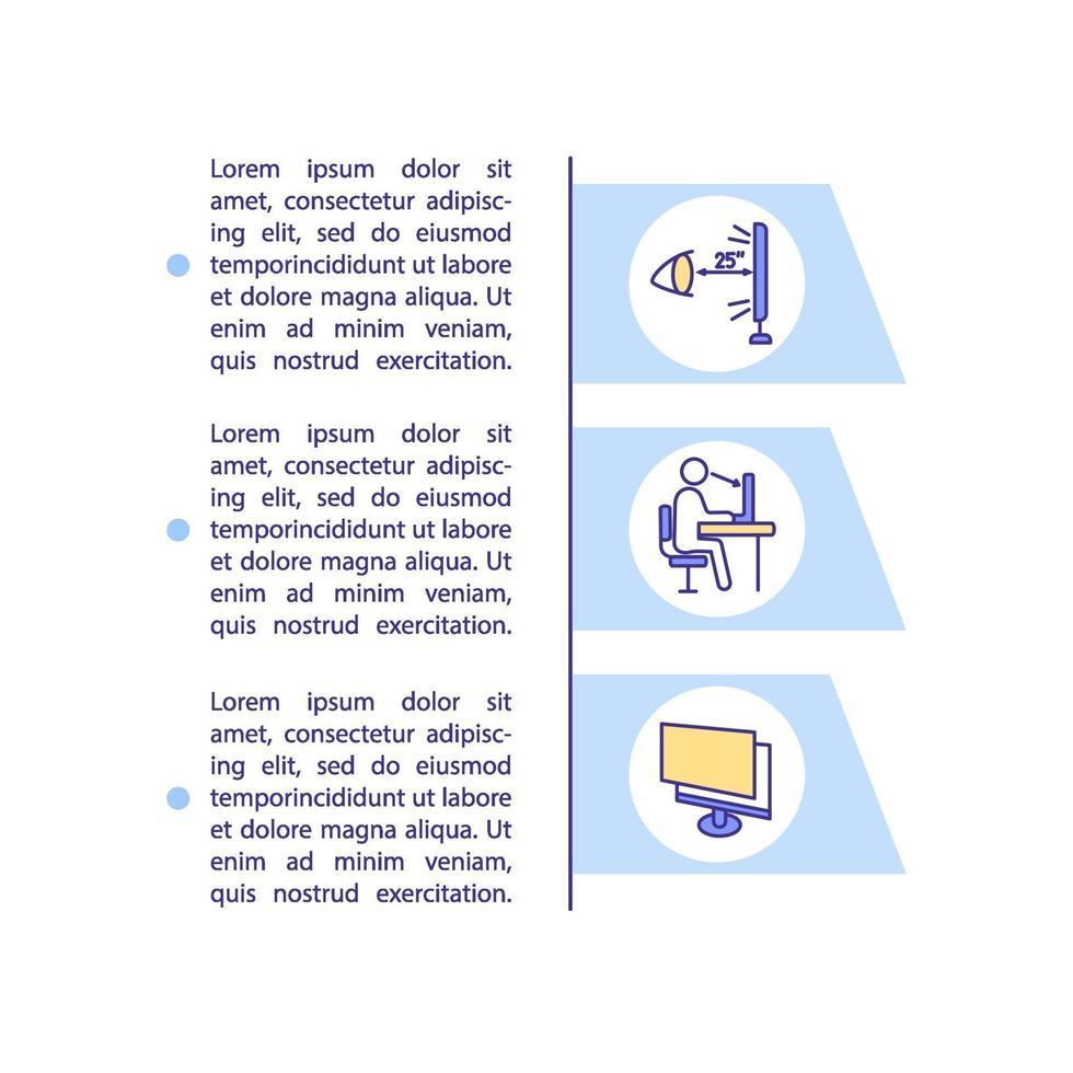 prevenção de olhos digitais distendem o ícone do conceito com texto vetor