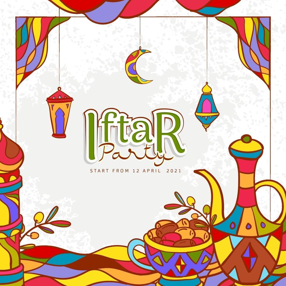 ilustração desenhada à mão ramadan kareem vetor
