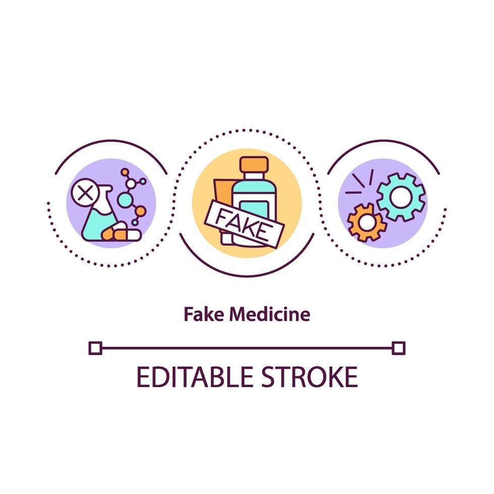 ícone do conceito de medicamento falso vetor