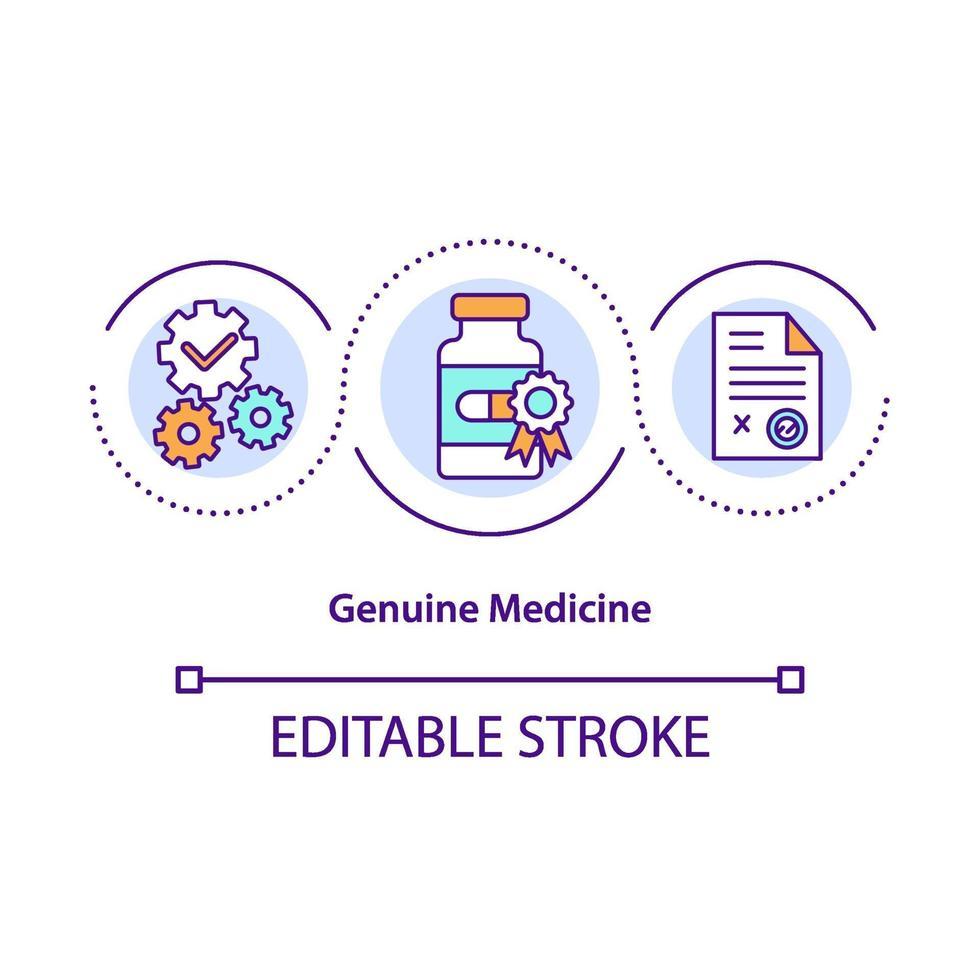 ícone do conceito de medicina genuína vetor