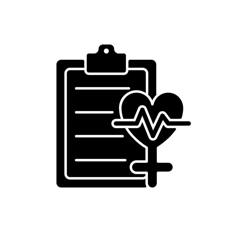 acesso ao ícone de glifo preto de saúde vetor