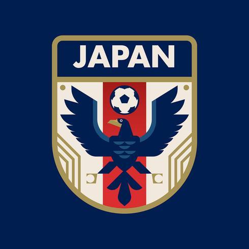 Emblemas do futebol da copa do mundo de Japão vetor