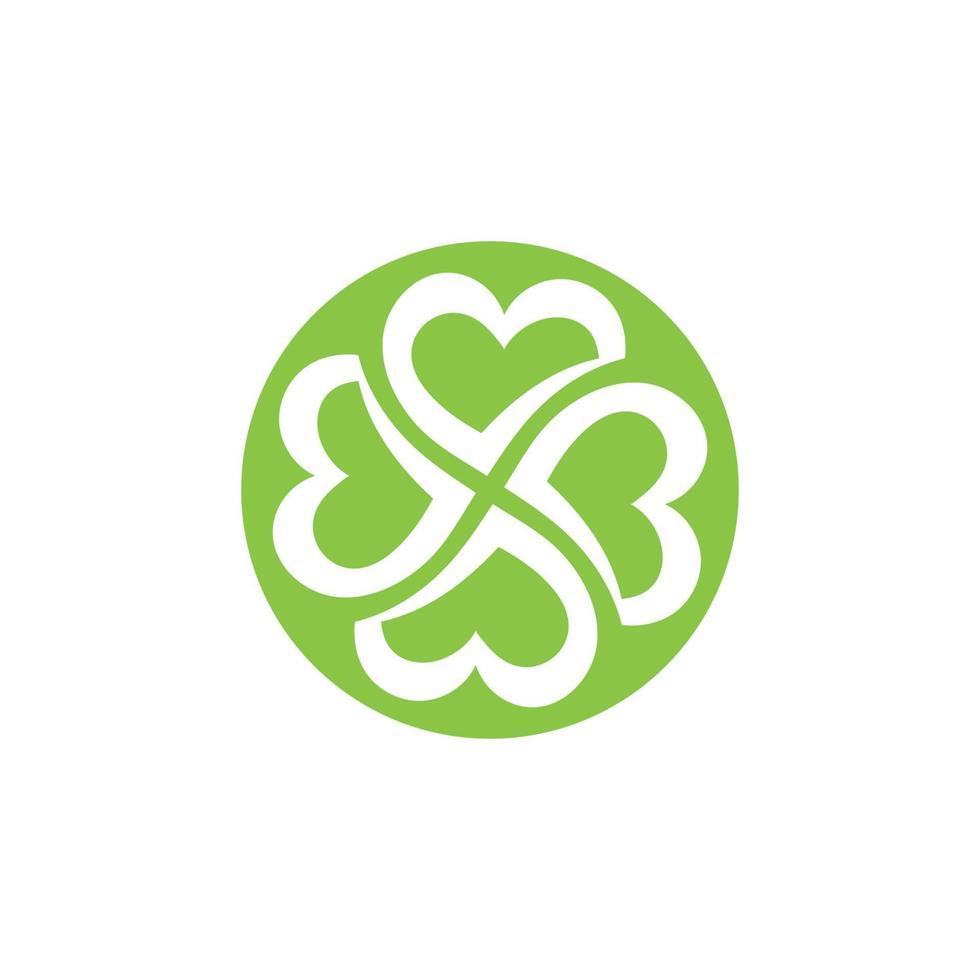 logotipos da ecologia de folhas verdes vetor