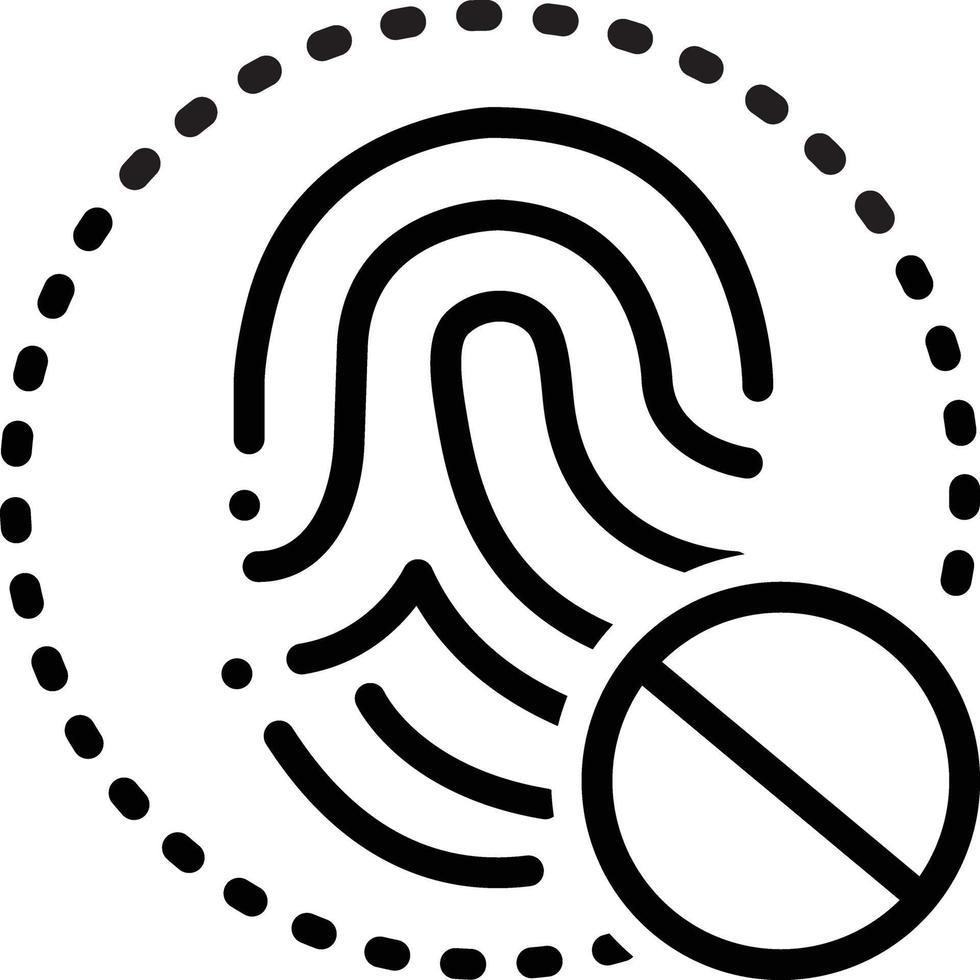 ícone de linha para acesso negado vetor
