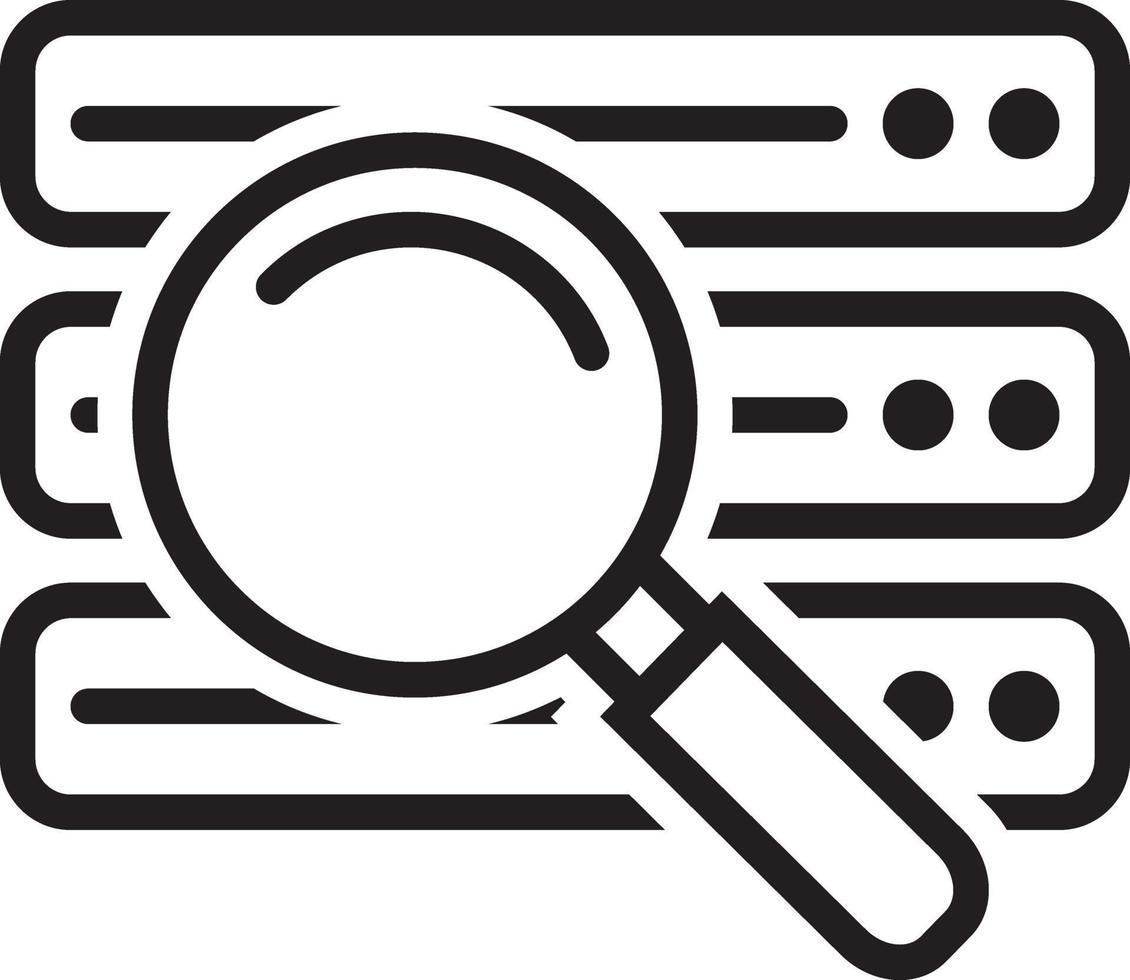 ícone de linha para banco de dados vetor