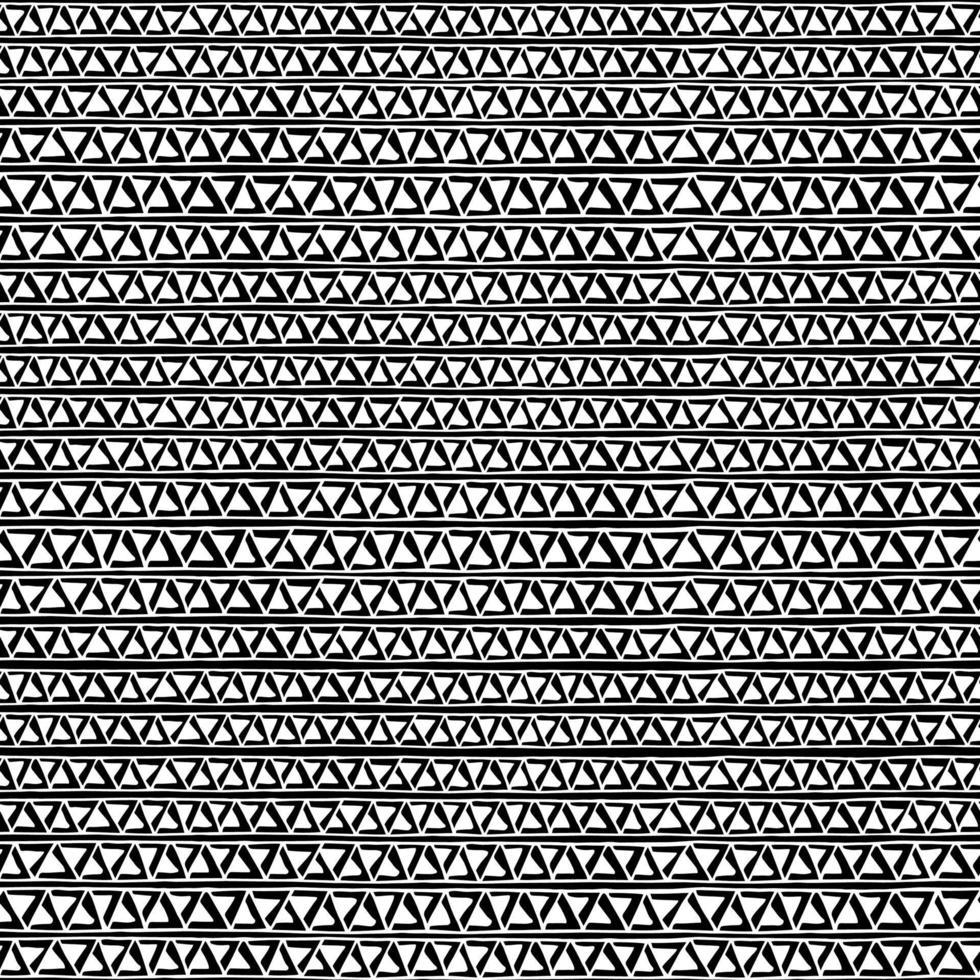 impressão monocromática. padrão geométrico preto e branco sem costura. vetor