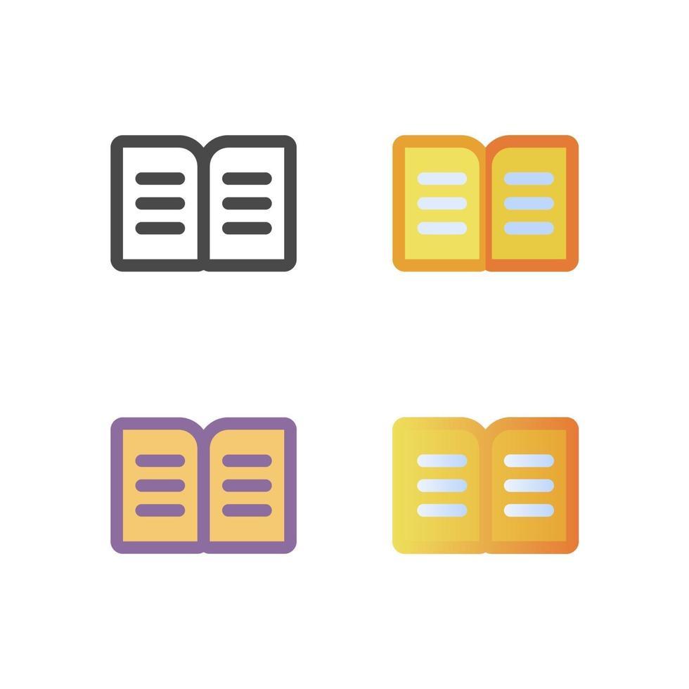 livro ícone pacote isolado no fundo branco. para o design do seu site, logotipo, aplicativo, interface do usuário. ilustração de gráficos vetoriais e curso editável. eps 10. vetor