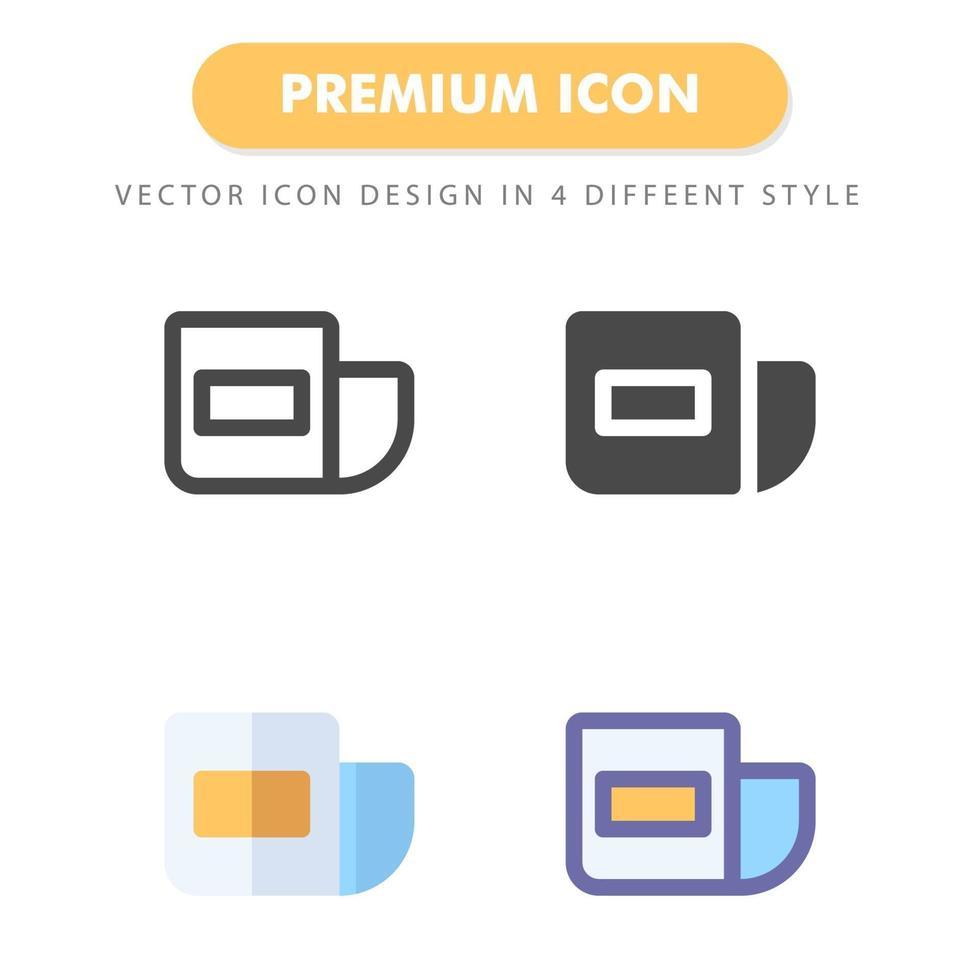 pacote de ícones de boletim informativo isolado no fundo branco. para o design do seu site, logotipo, aplicativo, interface do usuário. ilustração de gráficos vetoriais e curso editável. eps 10. vetor