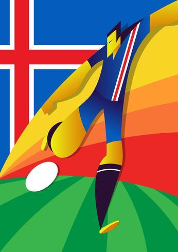 Jogadores de futebol da Copa do Mundo da Islândia vetor