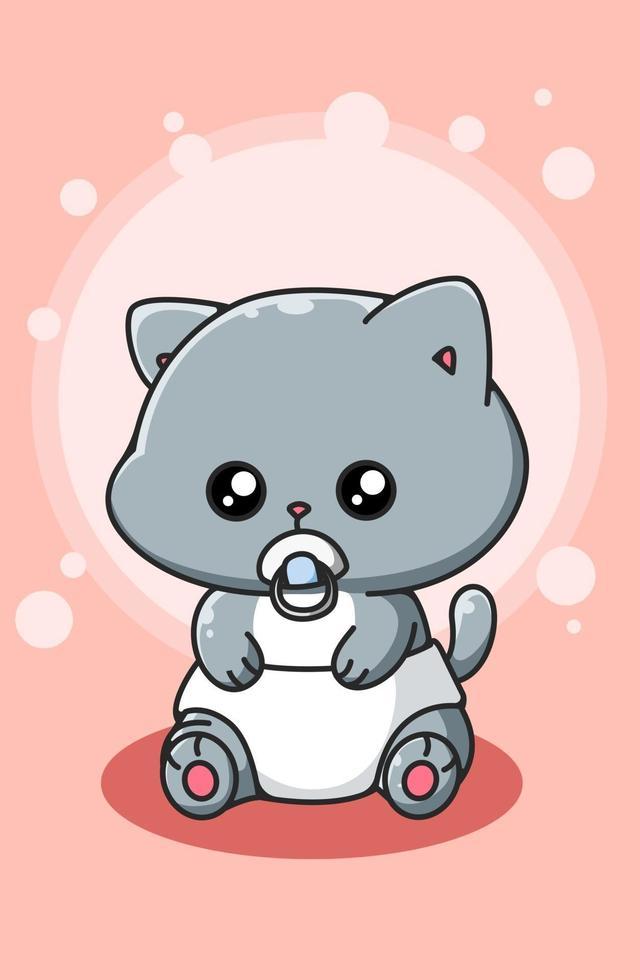 ilustração de desenho animado bonito e engraçado bebê vetor