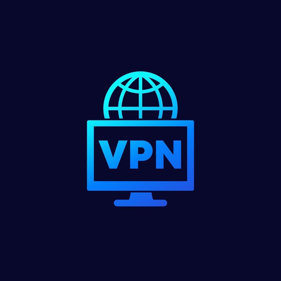 ícone de acesso vpn para web vetor