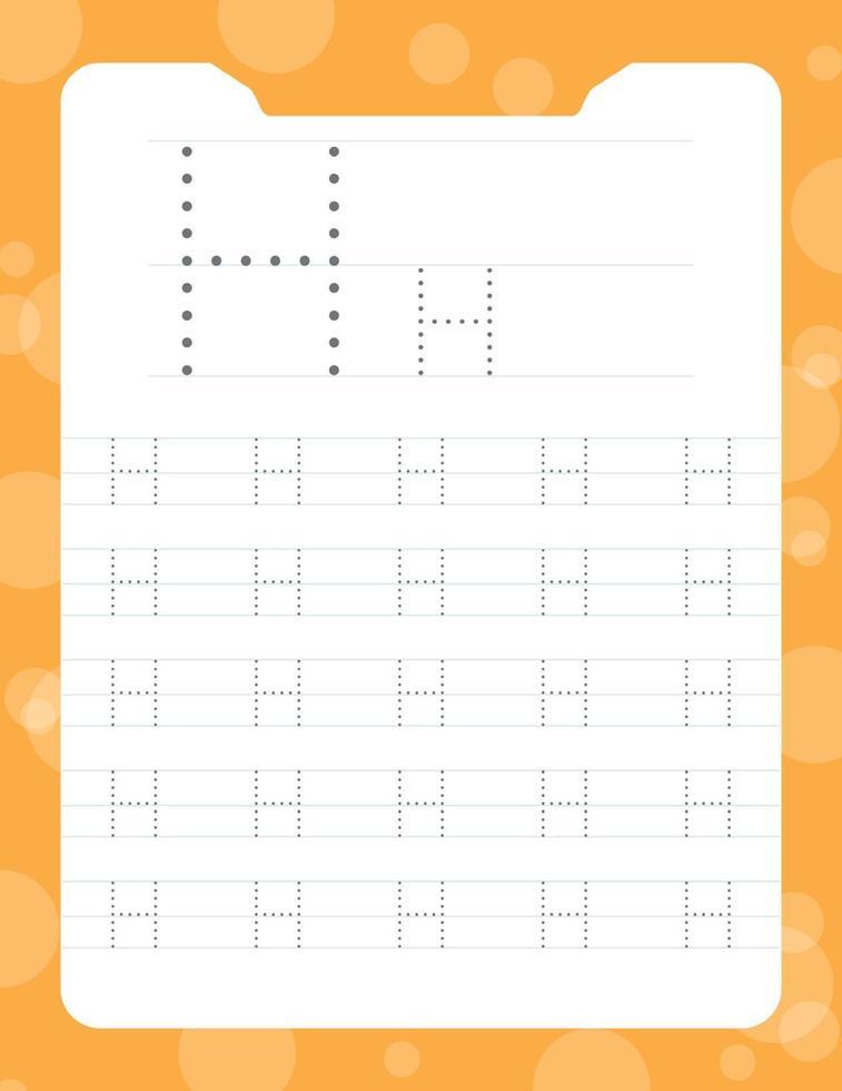 letra h rastreando planilhas do alfabeto vetor