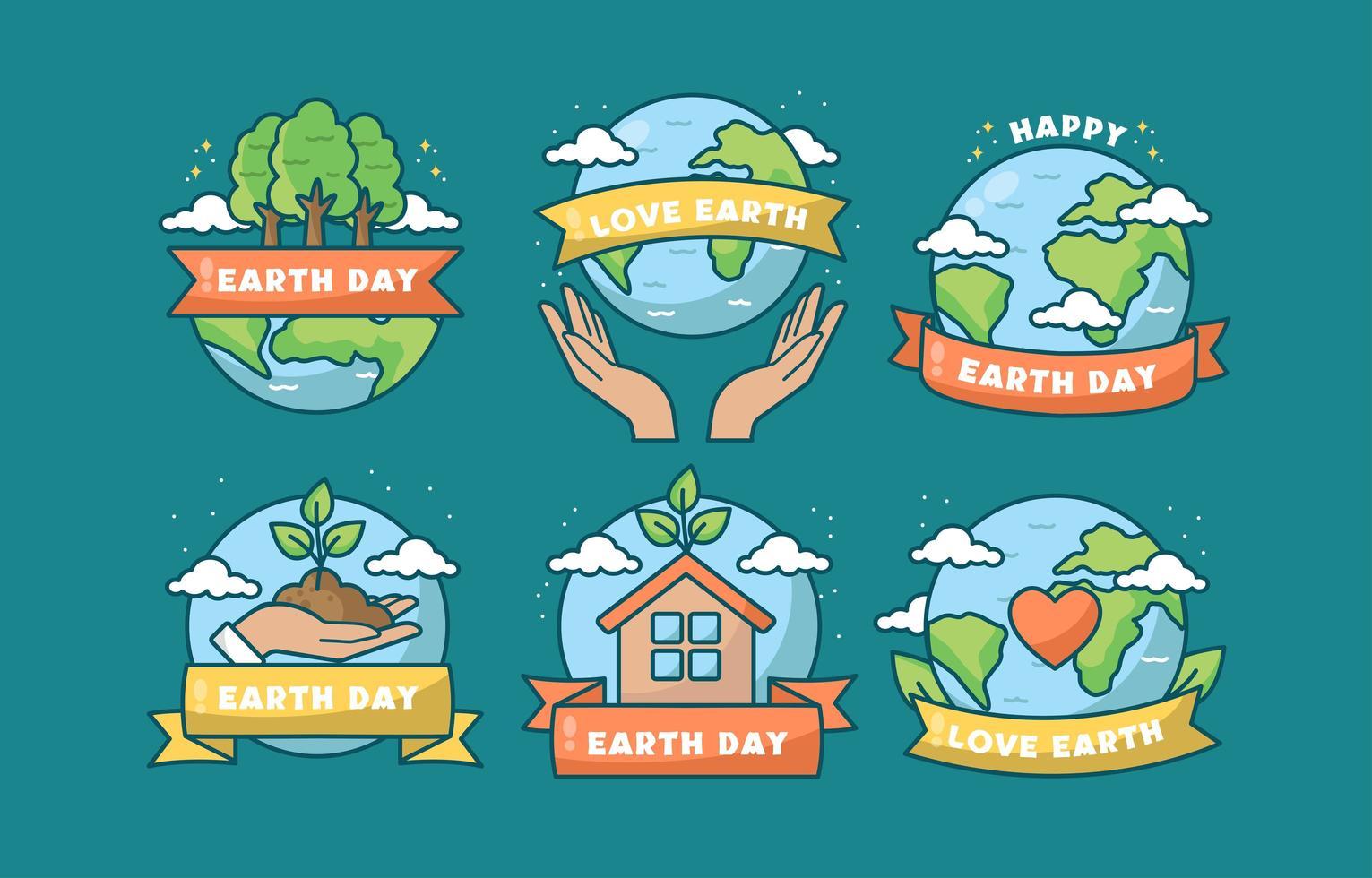 cuidando do nosso planeta natal, dia da terra vetor