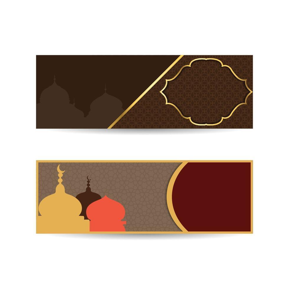 ilustração vetorial ramadan kareem. mesquita edifício ramadan kareem religião muçulmana mês sagrado. ilustração vetorial plana. banner islâmico de fundo vetor