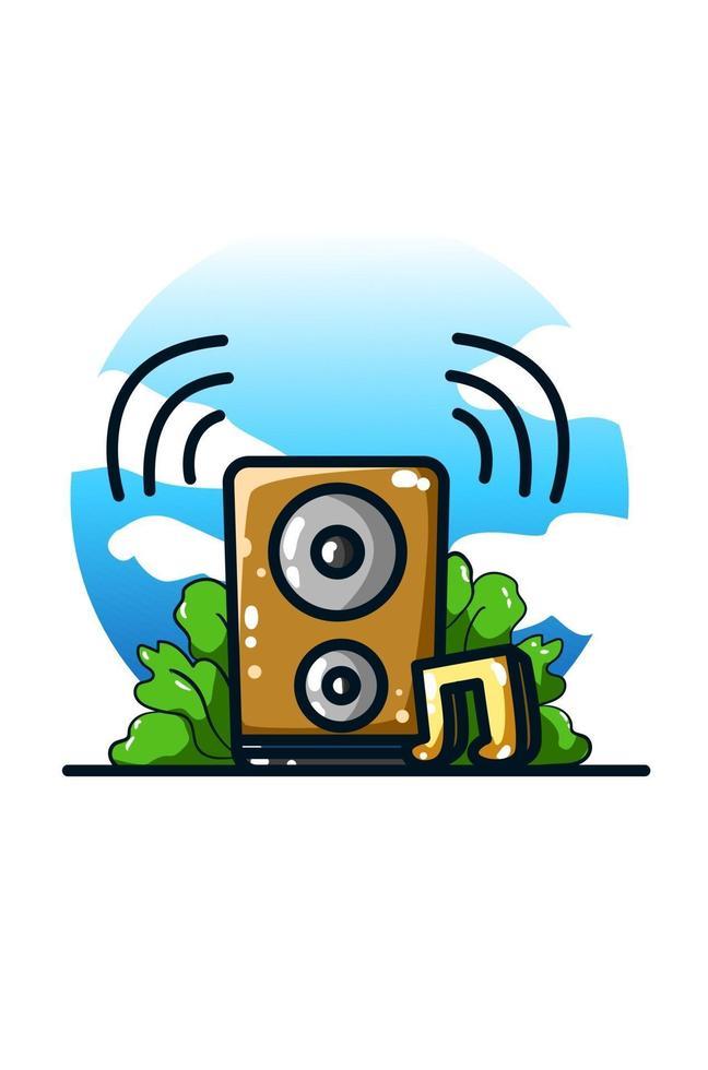 ilustração de ícone de música e alto-falante de som vetor