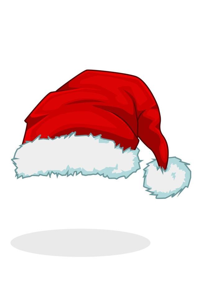 uma ilustração de chapéu de papai noel no natal vetor