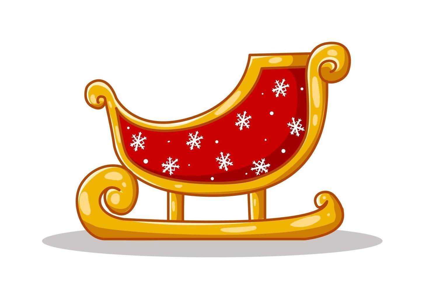 ilustração de trenó de Papai Noel vetor