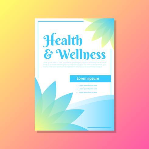 Modelo de Brochura - bem-estar vetor