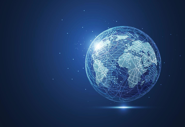 conexão de rede global vetor