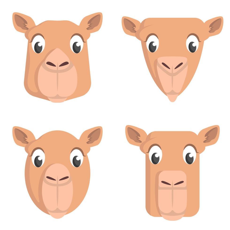 conjunto de camelos dos desenhos animados. vetor