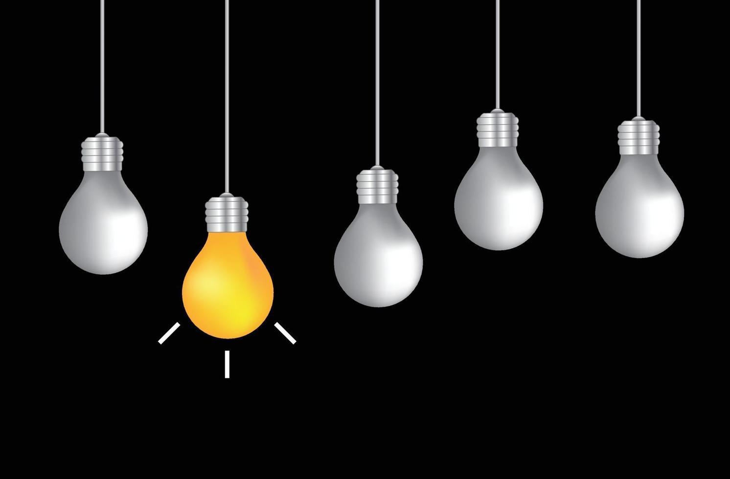 inspiração do conceito de lâmpada vetor