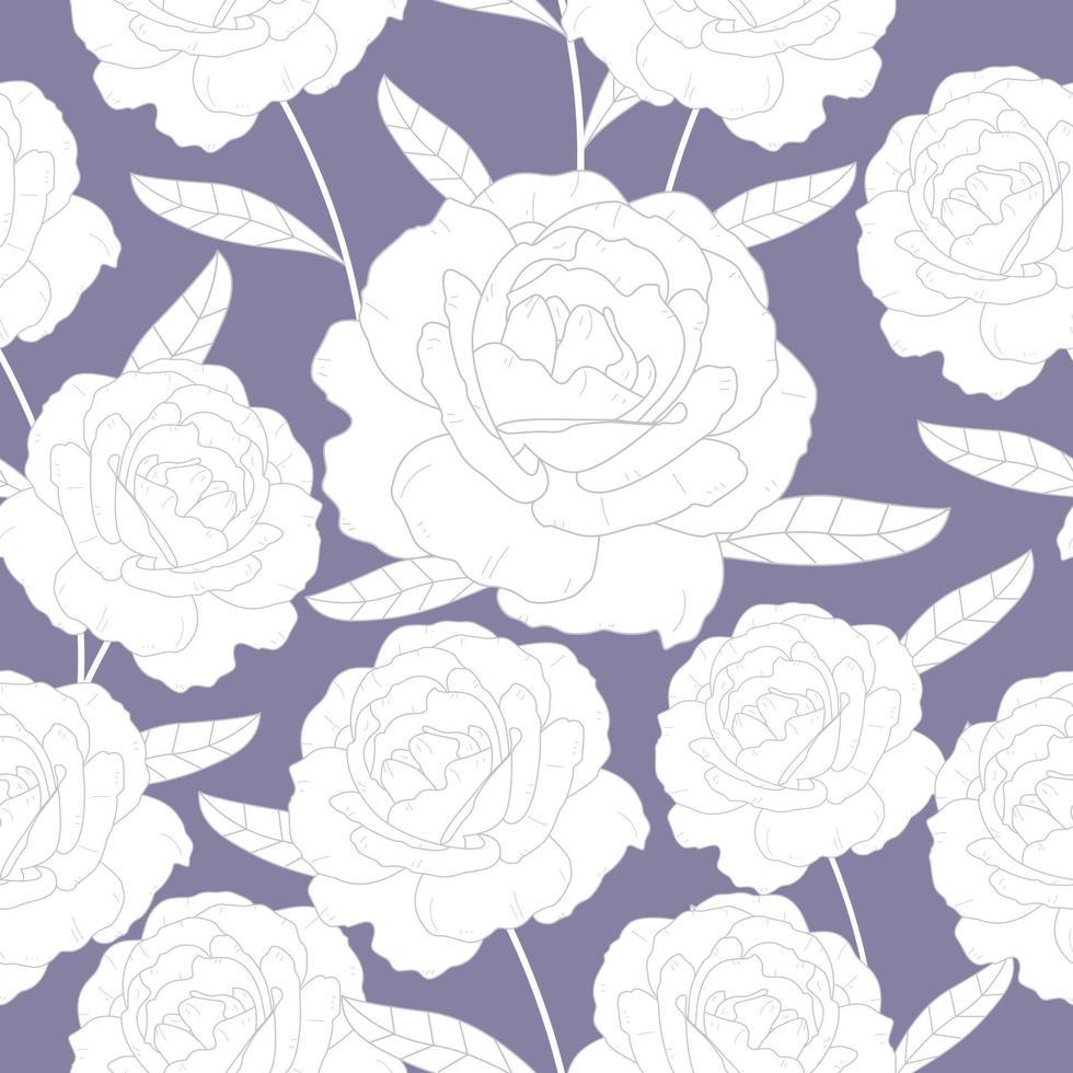 padrão monótono sem costura de rosas vetor