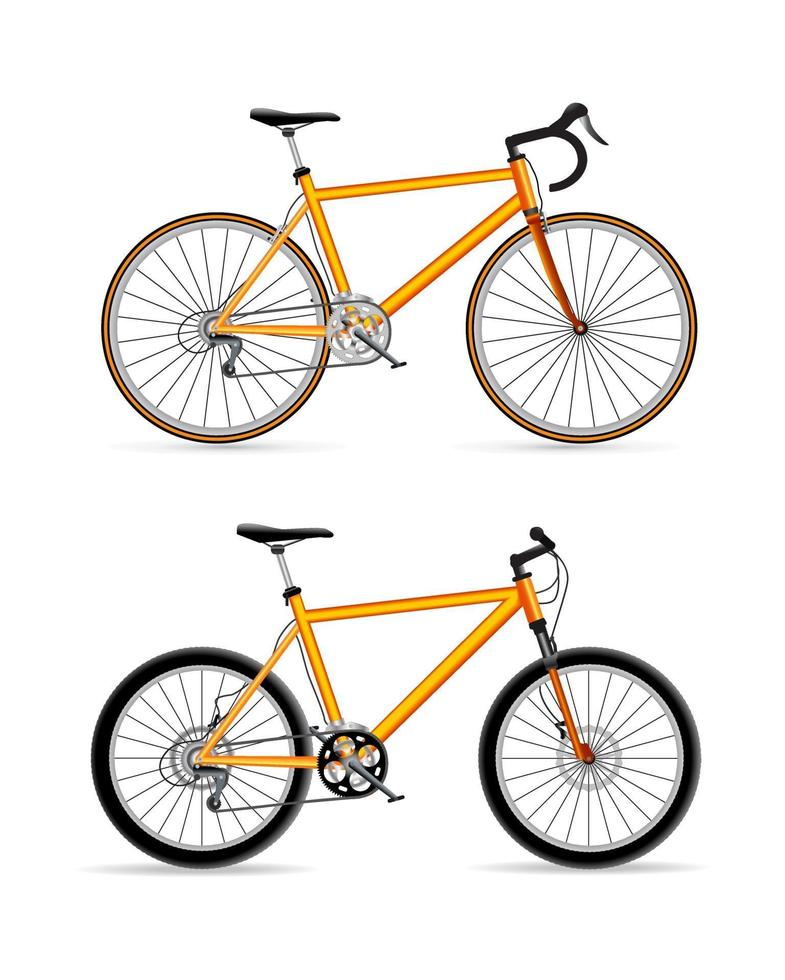 conjunto de esporte de bicicleta vetor