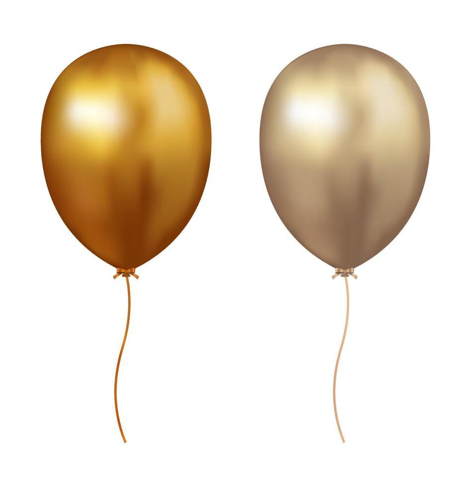 balão de ar dourado vetor