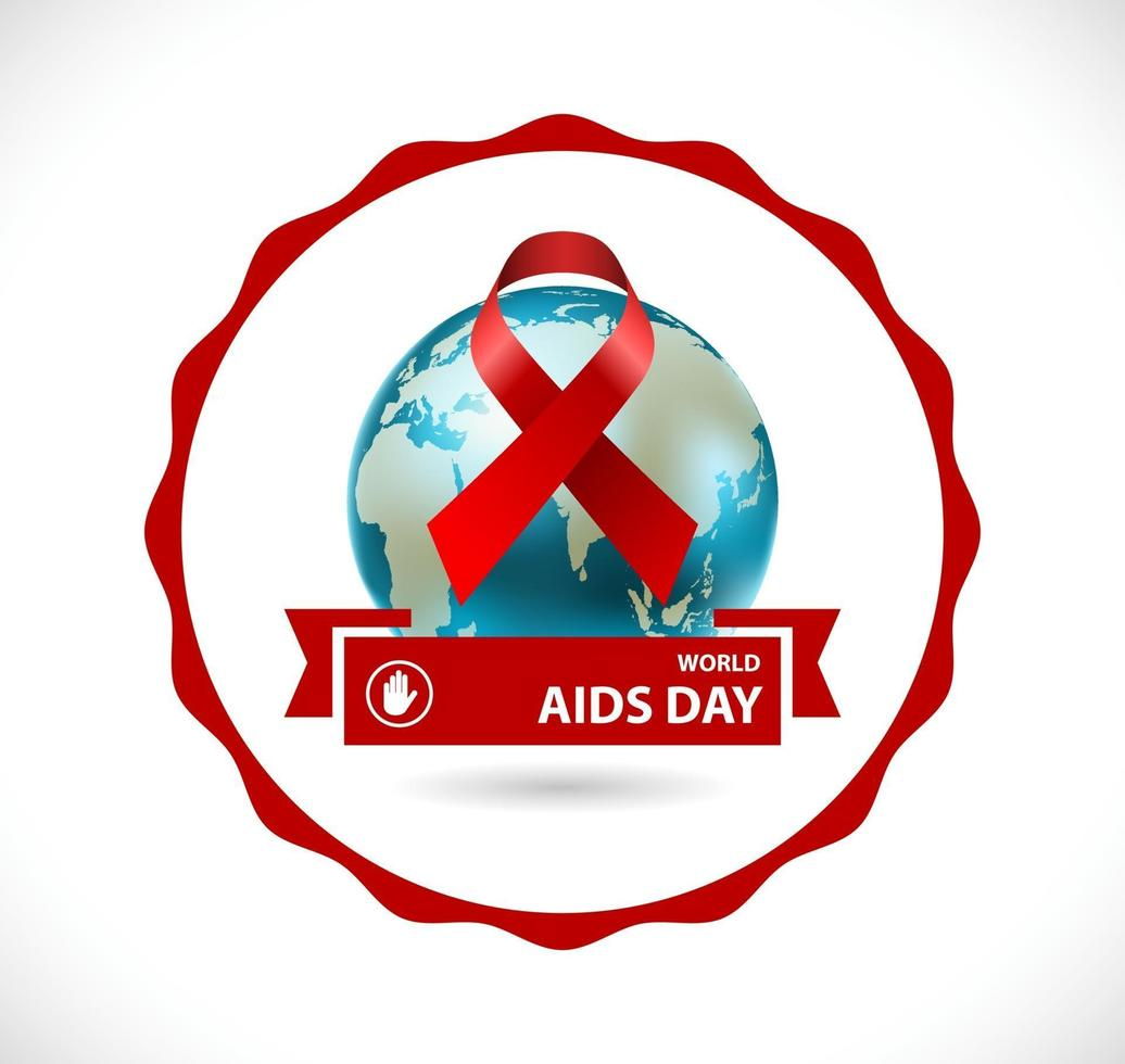 crachá do dia de aids vetor