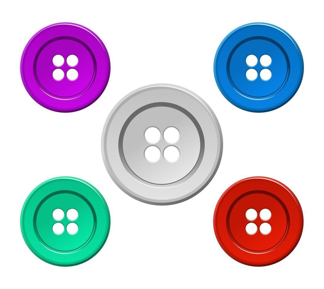 ícone de botão de costura vetor