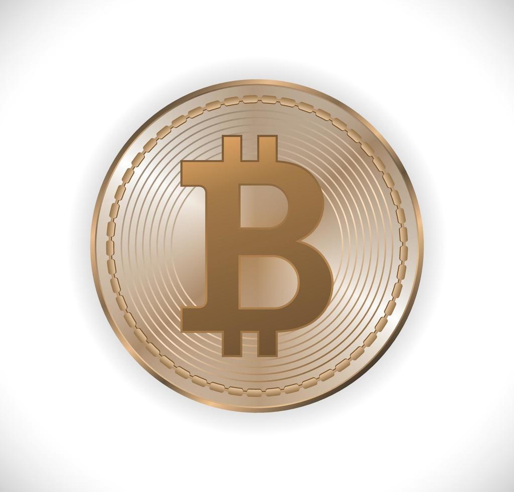 ícone de dinheiro bitcoin vetor