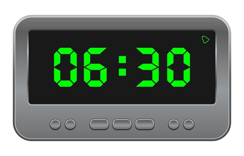 ícone de vetor de relógio digital