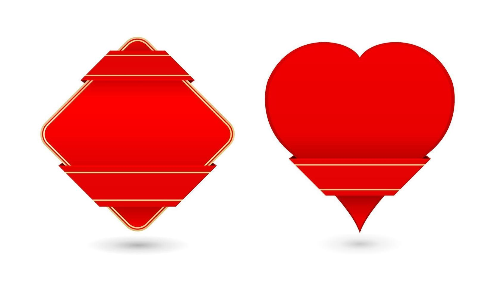 cartão coração fita vetor