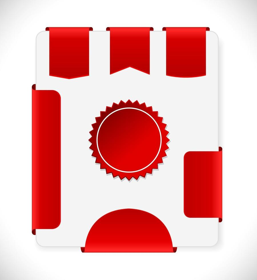 rótulos de tag vermelha vetor