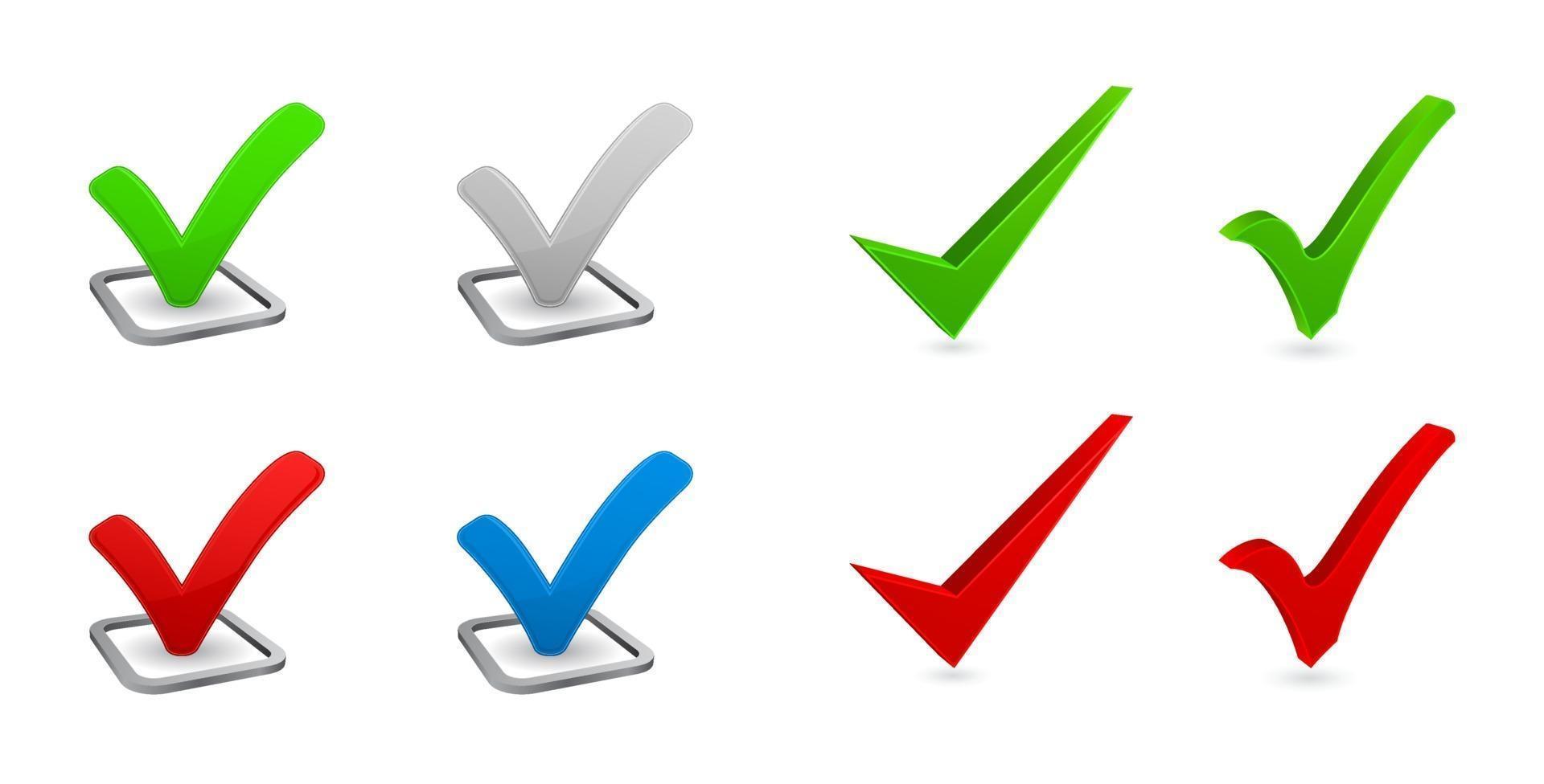 marca de verificação 3d vetor