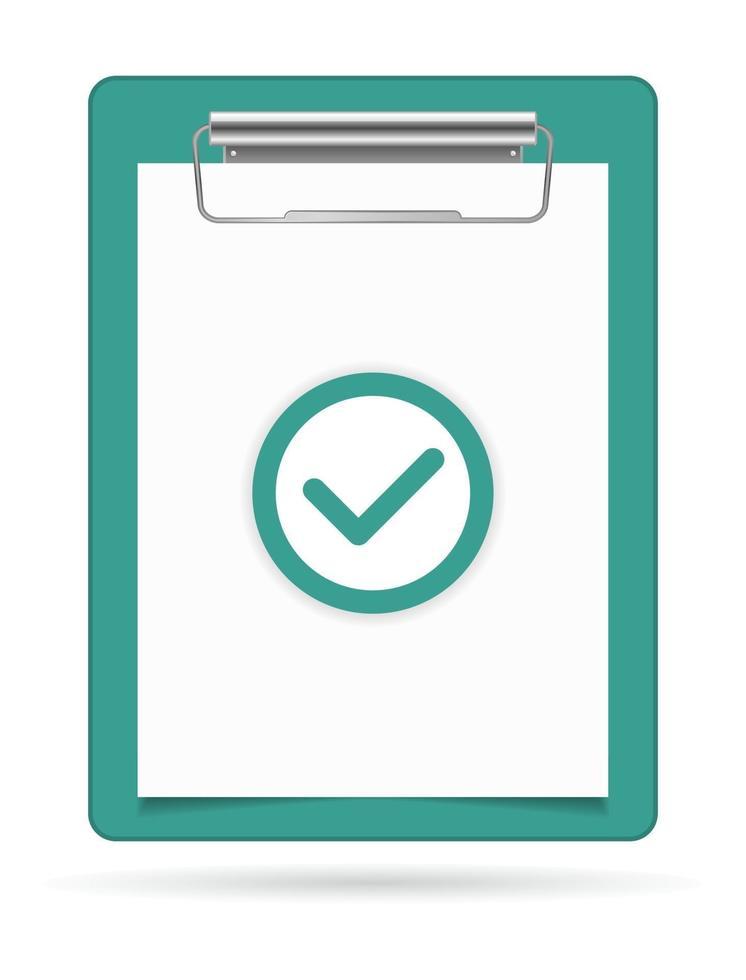 ícone de marca de seleção da área de transferência vetor