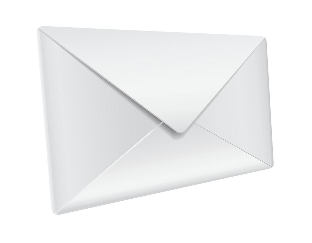ícone de envelope 3d vetor