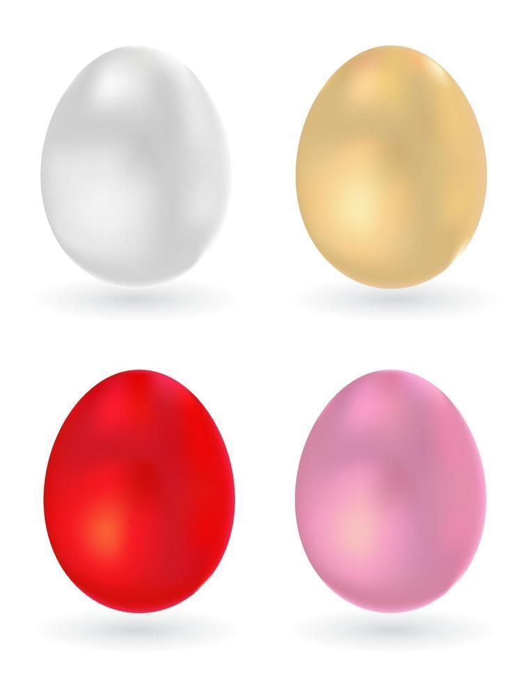 ovo conjunto de ícones 3d vetor