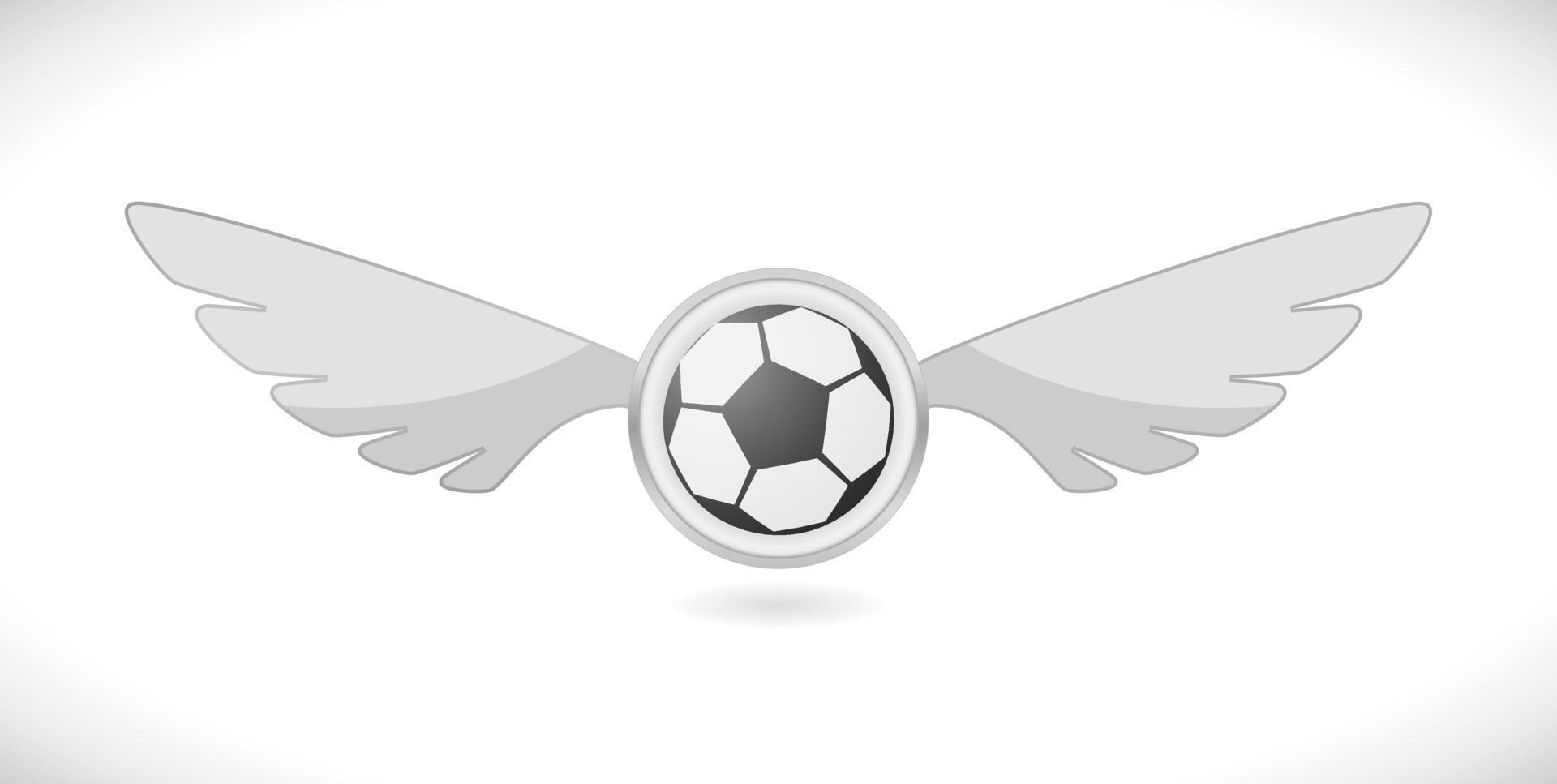 bola de futebol com asas vetor