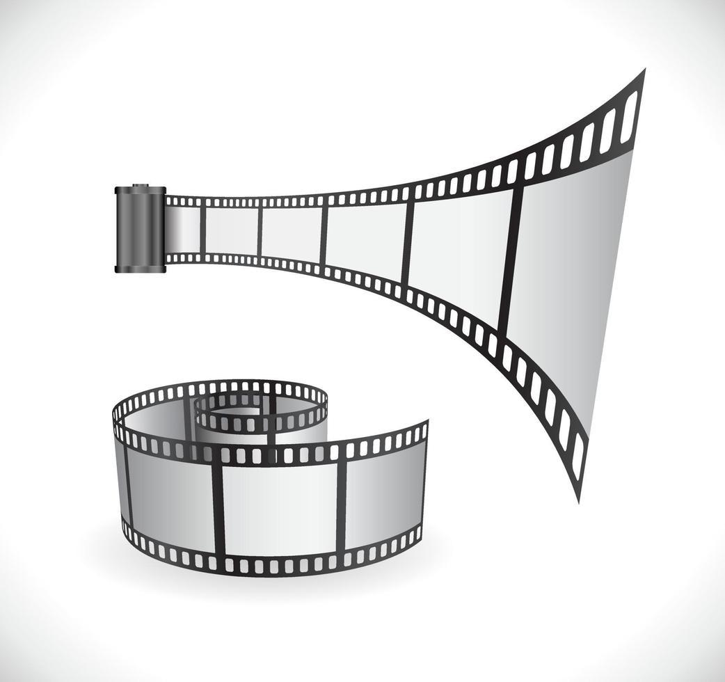 ícone de rolo de tira de filme vetor
