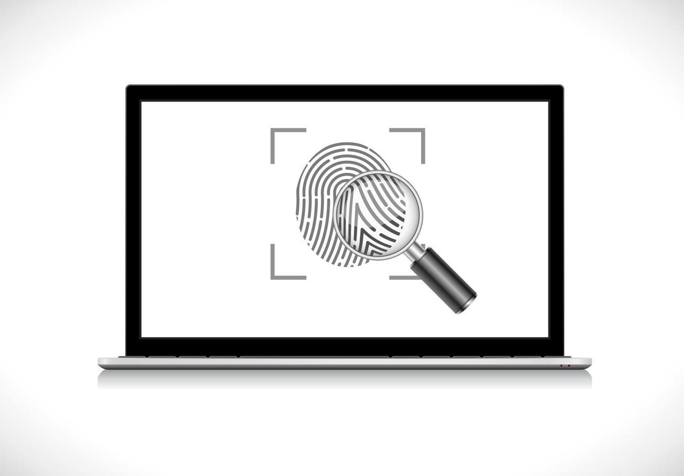 ícone de impressão digital de identidade vetor