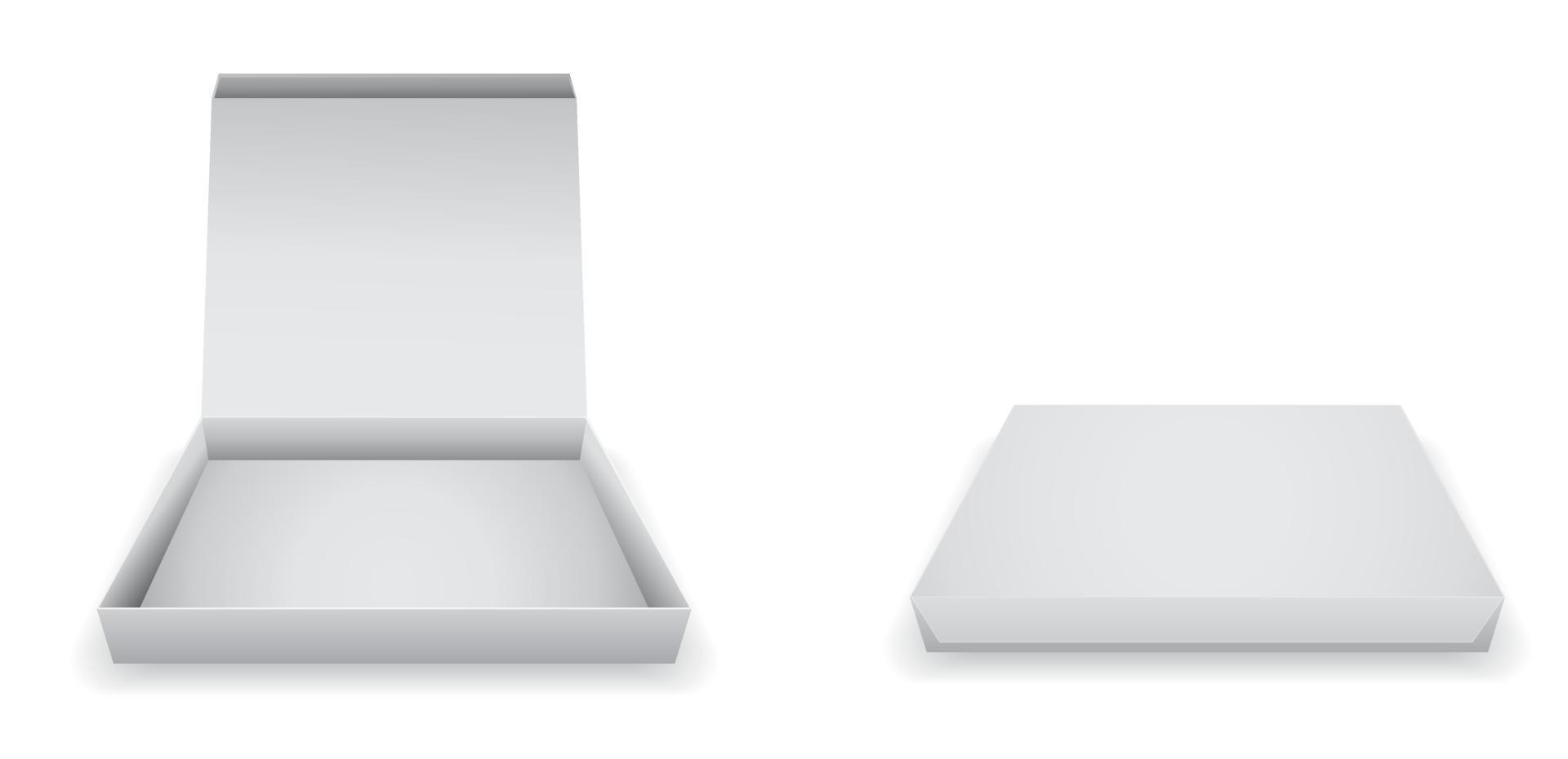 ícone 3d de caixa de pizza de papel vazia vetor