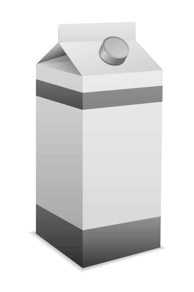 caixa de embalagem de leite vetor