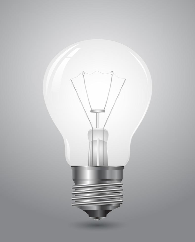 ícone de lâmpada 3D vetor