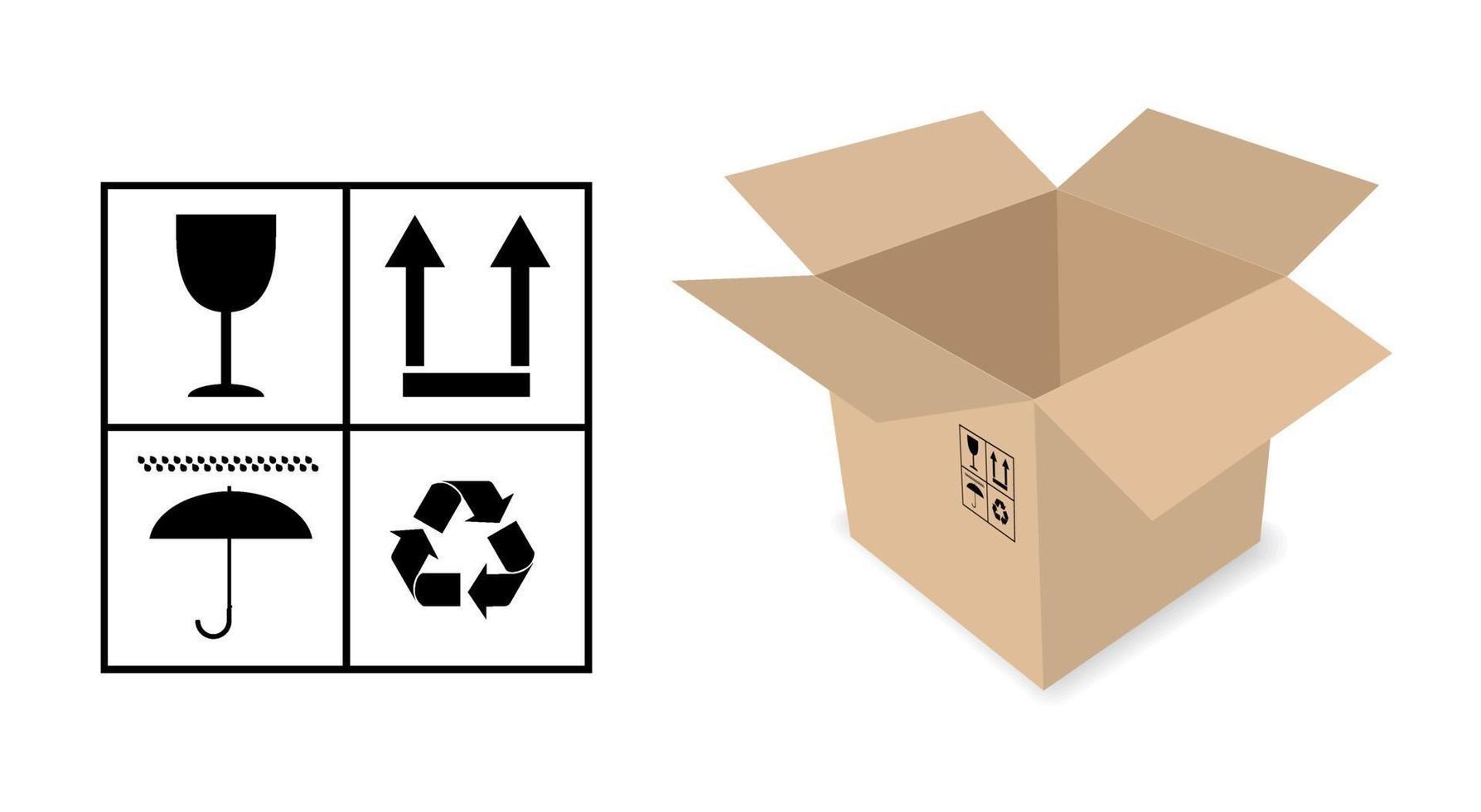 caixa de embalagem de papelão vetor